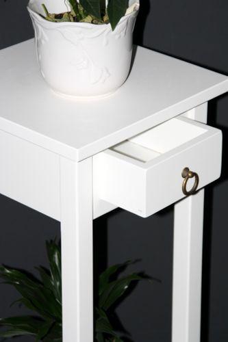 Beistelltisch weiß Telefontisch Blumentisch Blumenhocker 80 - Holz massiv – Bild 3