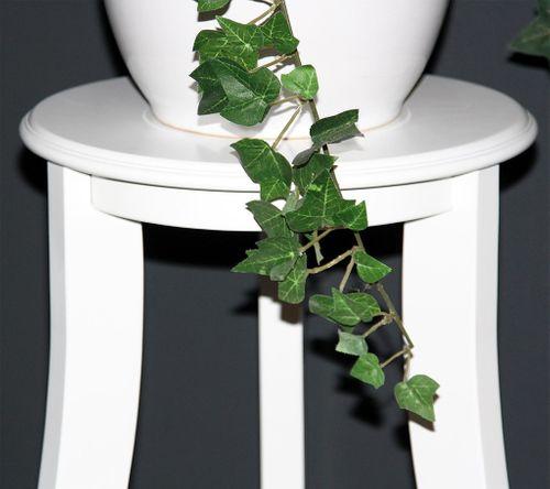 Blumentisch Blumenhocker rund 60 - Holz massiv weiß lackiert – Bild 4
