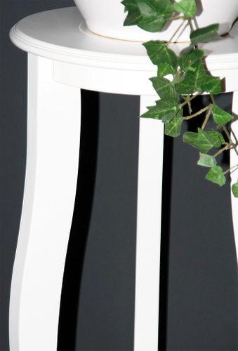 Blumentisch Blumenhocker rund 60 - Holz massiv weiß lackiert – Bild 3