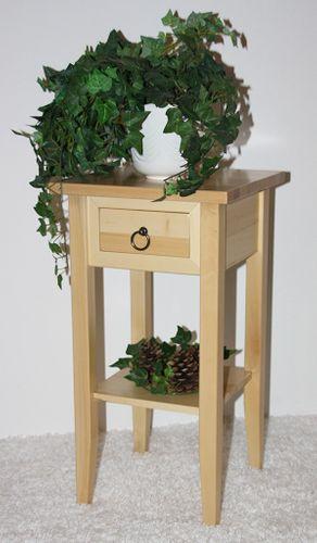 Massivholz Beistelltisch Blumentisch Blumenhocker 60 - Holz massiv natur – Bild 1