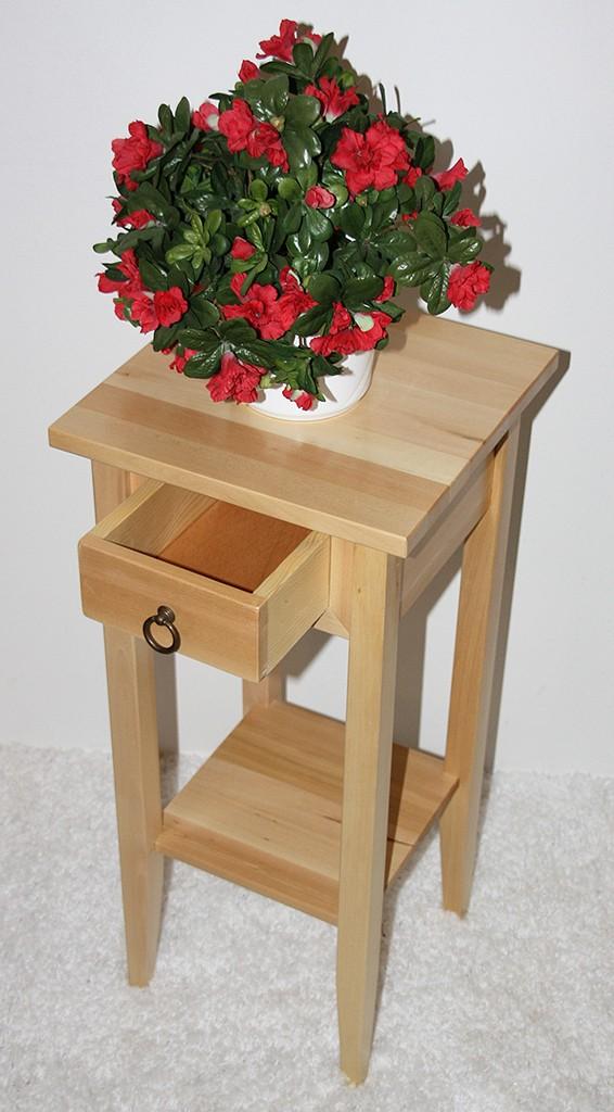 Massivholz Beistelltisch Blumentisch Blumenhocker 70 - Holz massiv natur – Bild 3