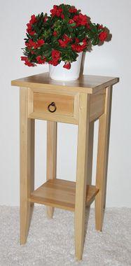 Massivholz Beistelltisch Blumentisch Blumenhocker 70 - Holz massiv natur 001