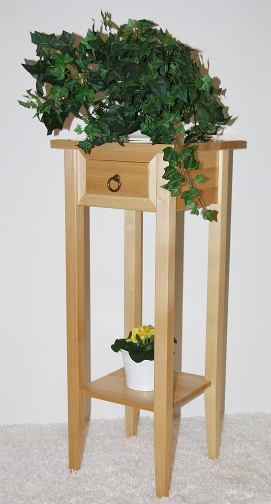 Beistelltisch Blumentisch Blumenhocker 80 Holz massiv natur lackiert – Bild 2