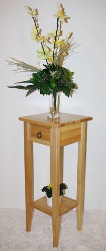 Beistelltisch Blumentisch Blumenhocker 80 Holz massiv natur lackiert
