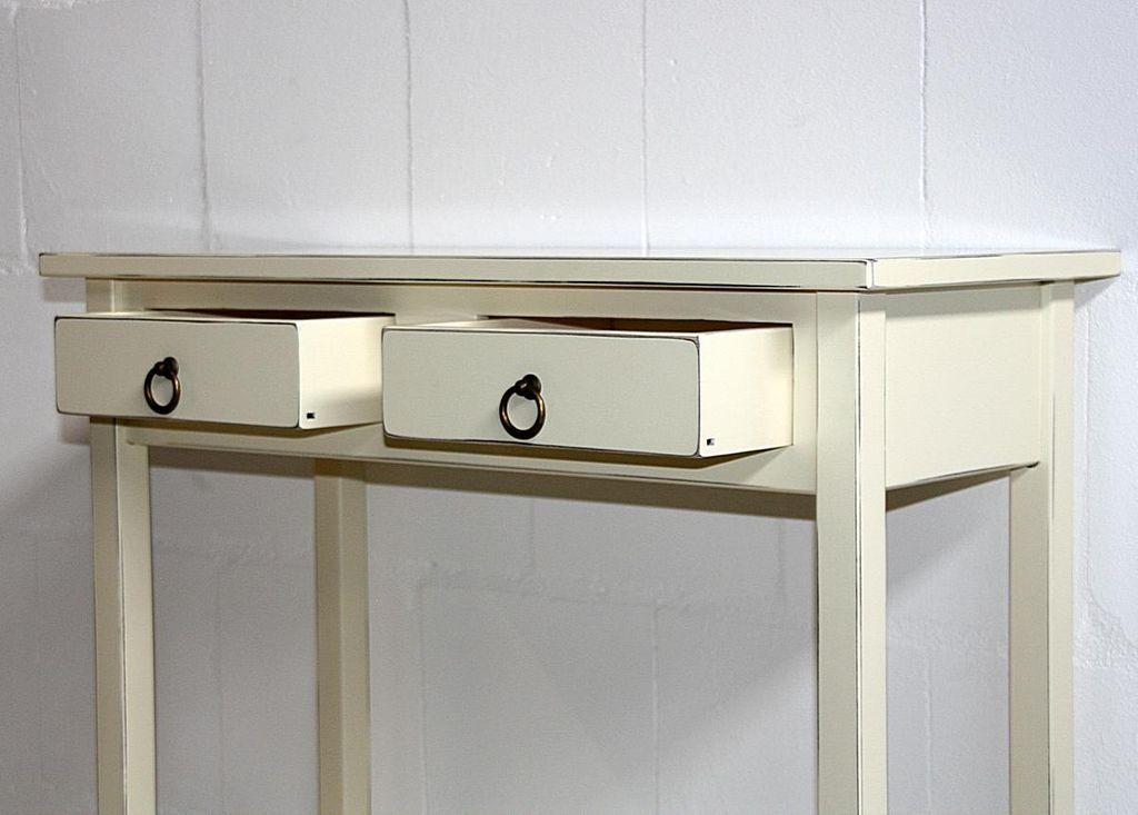 Konsolentisch Wandtisch Beistelltisch Telefontisch Holz massiv creme antik – Bild 9