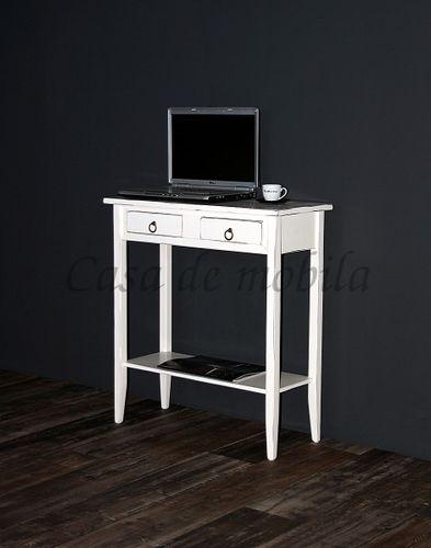 Konsolentisch Wandtisch Beistelltisch Telefontisch Holz massiv weiß antik