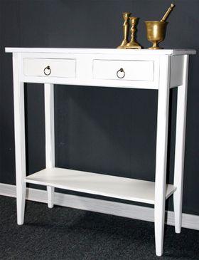 Konsolentisch Wandtisch Beistelltisch Telefontisch Holz massiv weiß antik 001