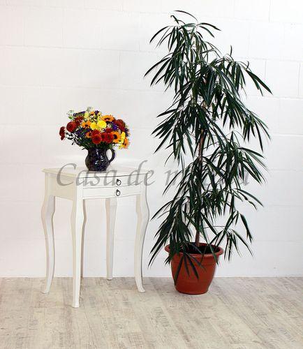 Beistelltisch weiß Konsolentisch Wandtisch Vollholz massiv