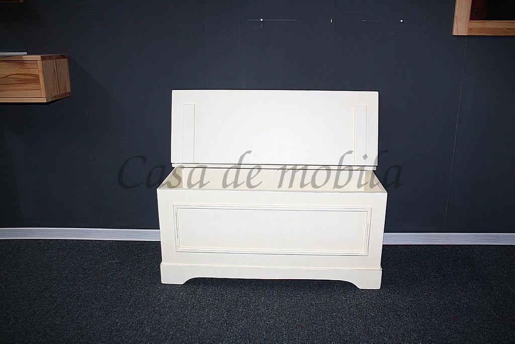 Massivholz Truhe Holztruhe Sitztruhe 39x84 Holz massiv weiß Vintage ...