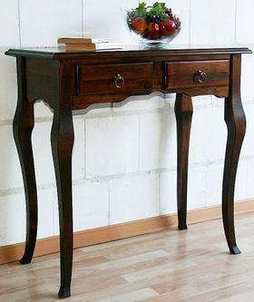Wandtisch Beistelltisch Schreibtisch Konsolentisch Vollholz massiv braun nussbaum Farbe 001