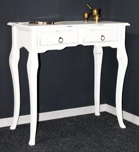 Sekretär Wandtisch Beistelltisch Schreibtisch Konsolentisch Holz massiv weiß antik