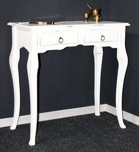 Sekretär Wandtisch Beistelltisch Schreibtisch Konsolentisch Holz massiv weiß antik 001