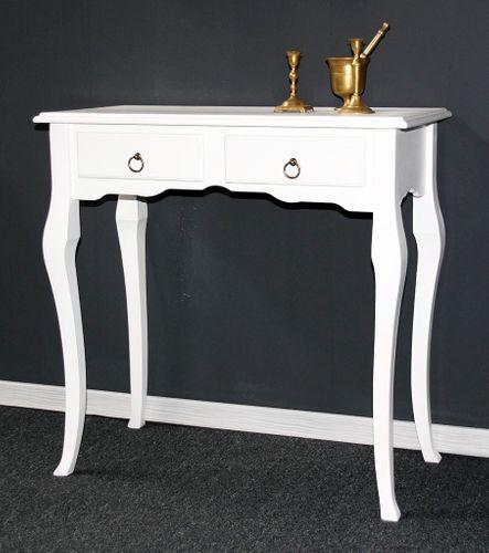 Sekretär Wandtisch Beistelltisch Schreibtisch Konsolentisch Holz massiv weiß – Bild 1
