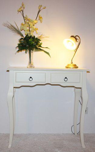 Sekretär Wandtisch Beistelltisch Schreibtisch Konsolentisch Holz massiv creme