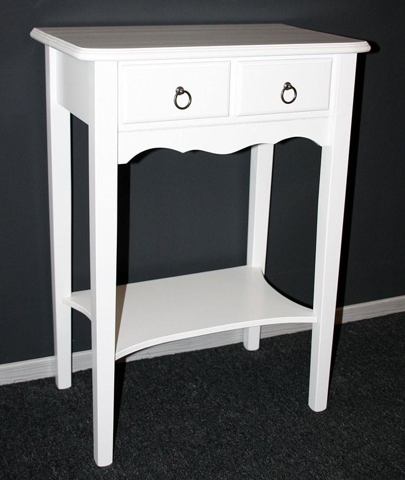 Konsolentisch weiß Wandtisch Beistelltisch Vollholz massiv – Bild 2