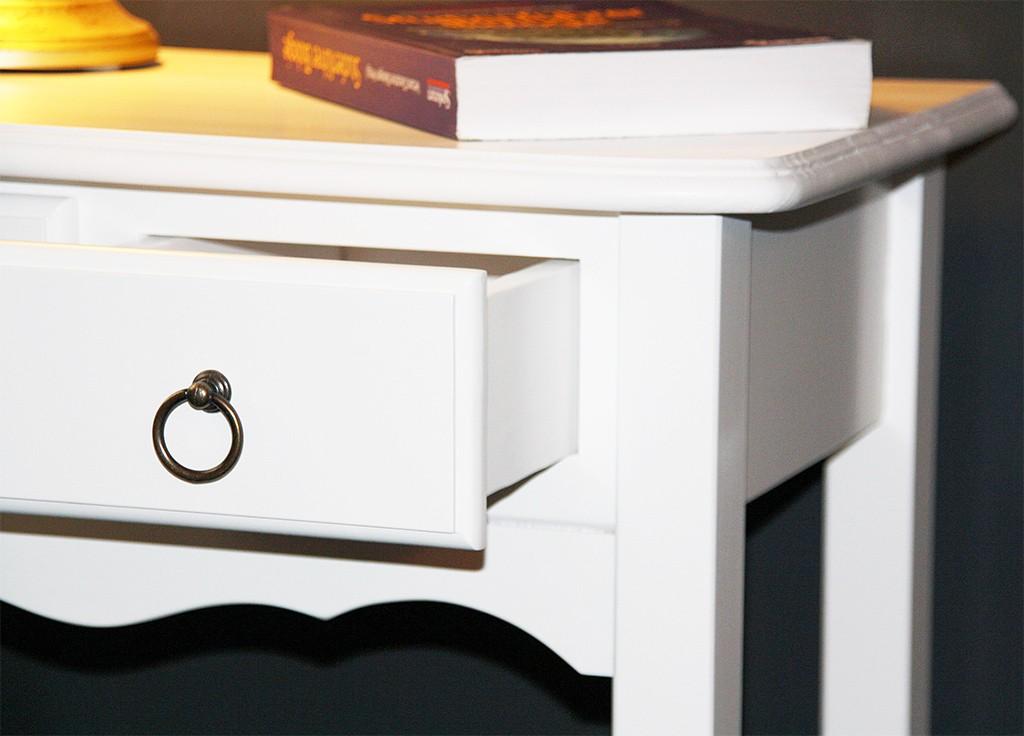 Konsolentisch weiß Wandtisch Beistelltisch Vollholz massiv – Bild 3