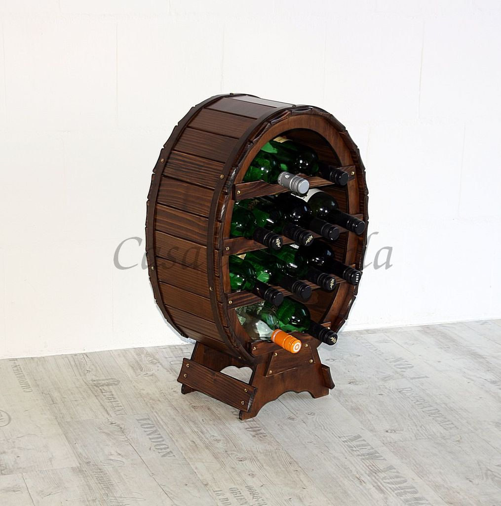 Weinregal Flaschenregal für 12 Flaschen Massivholz nussbaum-braun – Bild 6