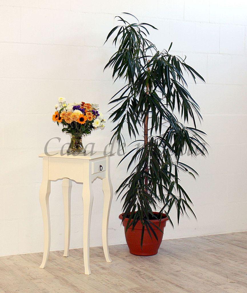 Wandtisch creme Telefontisch Beistelltisch 80x39 Vollholz massiv – Bild 4