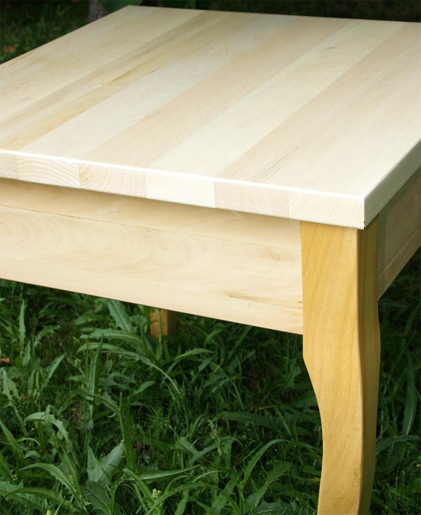 Beistelltisch natur lackiert Couchtisch mit Schublade Nachttisch 48x48 cm Nachtkommode Coffeetable – Bild 4