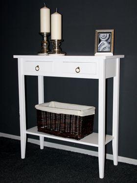 Konsolentisch Wandtisch Beistelltisch Telefontisch Holz massiv weiß 001