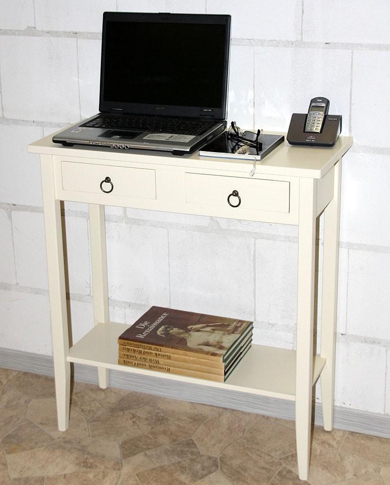 Konsolentisch DECOR 74x80x32cm Massivholz creme Telefontisch Beistelltisch – Bild 9