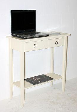 Konsolentisch Wandtisch Beistelltisch Telefontisch Holz massiv creme 001