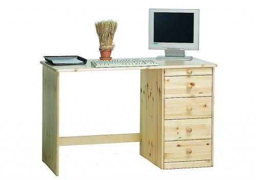 Schreibtisch Computertisch Kent Vollholz Kiefer massiv lackiert