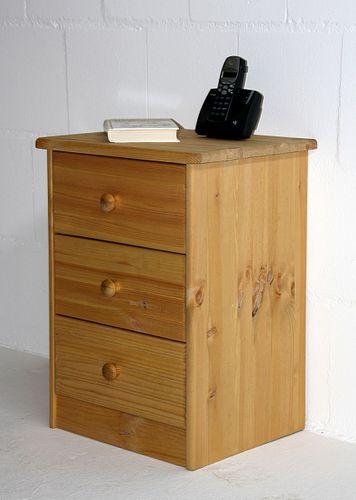 Nachtschrank Kiefer Nachtkommode massiv Nachttisch gelaugt geölt Nachtkonsole – Bild 4
