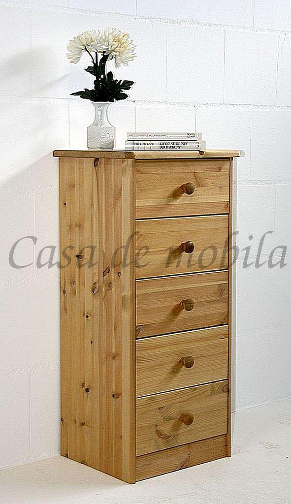 Schubladenkommode Kiefer Nachtkommode massiv Wäschekommode gelaugt geölt – Bild 12