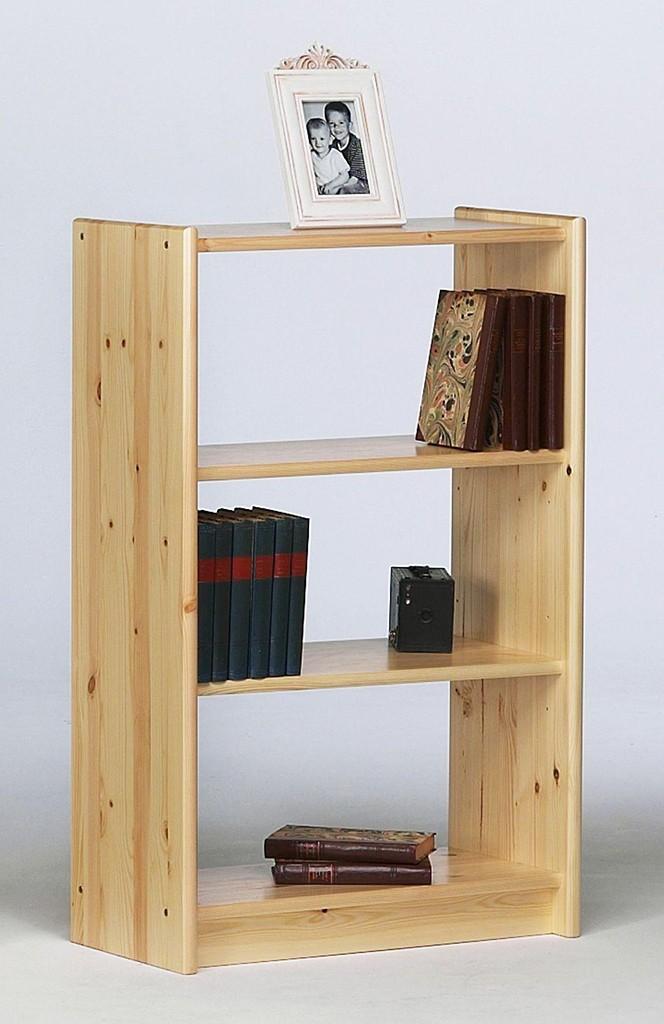standregal 64x100x30cm 2 b den kiefer massiv natur lackiert. Black Bedroom Furniture Sets. Home Design Ideas