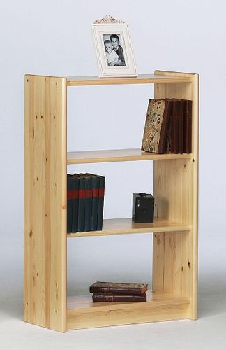 Regal 64x100 Bücherregal Kiefer Büroregal Vollholz massiv natur lackiert