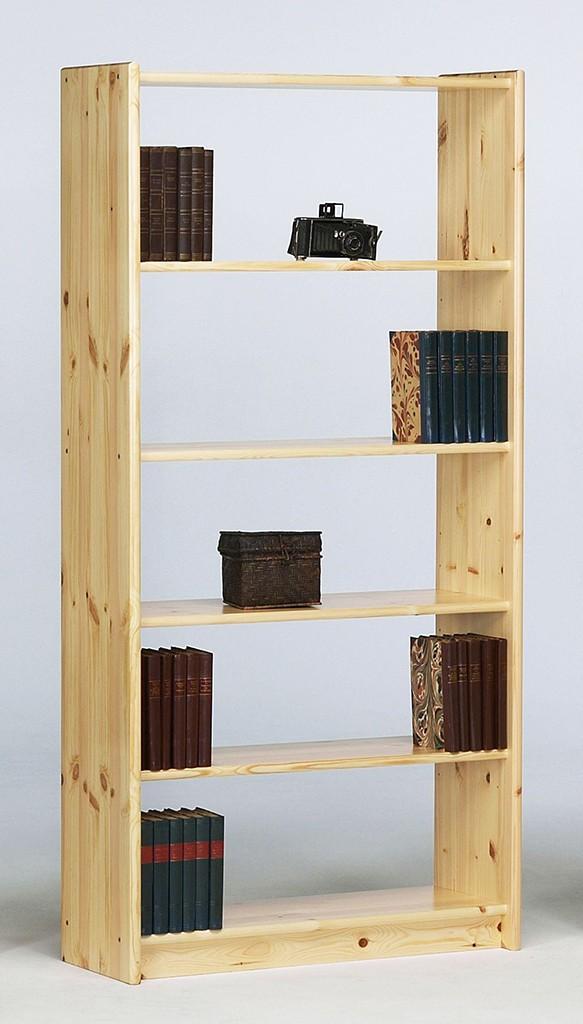 standregal 84x170x30cm 4 b den kiefer massiv natur lackiert. Black Bedroom Furniture Sets. Home Design Ideas