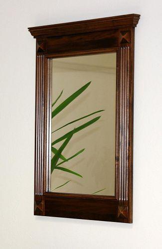 Spiegel mit Vollholzrahmen Wandspiegel 60x83 Flurspiegel massiv braun nussbaum Farbe – Bild 1