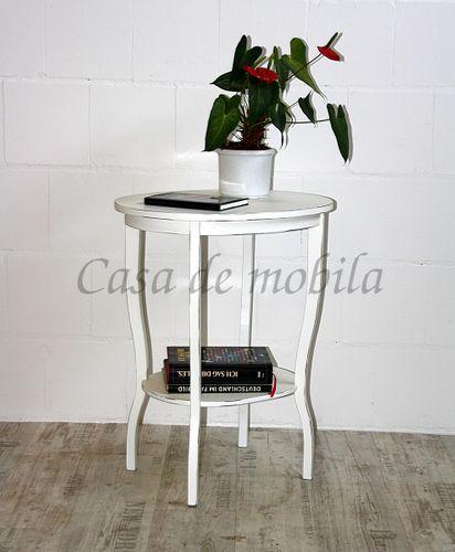 Beistelltisch shabby chic Teetisch Telefontisch antik weiß – Bild 1