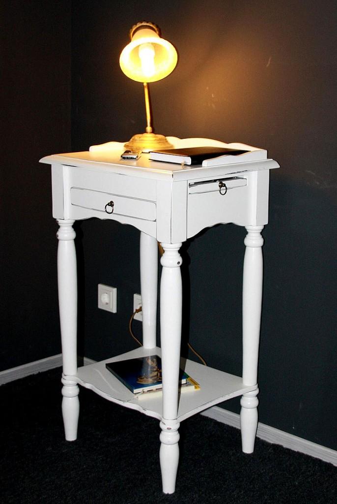 telefontisch 49x81x37cm 1 schublade 1 stiftablage 1. Black Bedroom Furniture Sets. Home Design Ideas