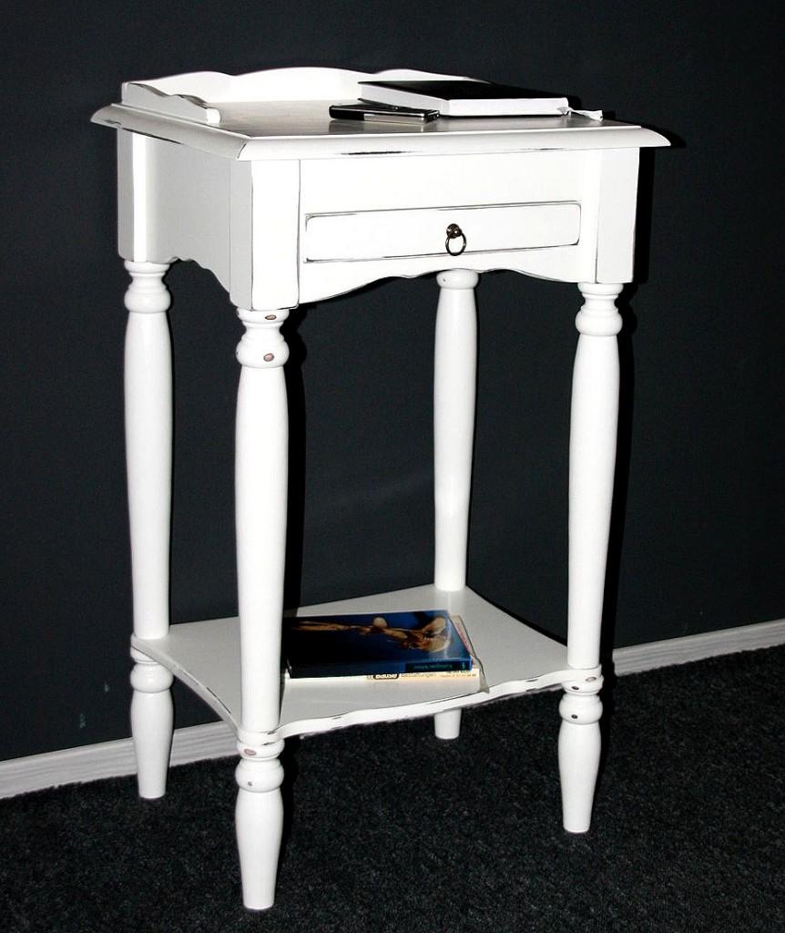 Konsolentisch weiß Shabby Chic - Telefontisch Beistelltisch – Bild 1