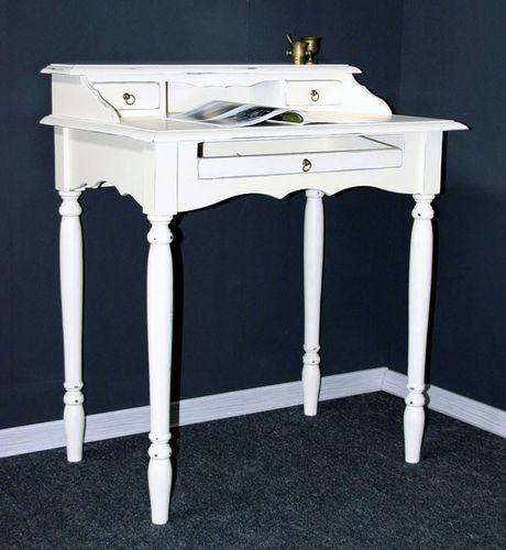 Sekretär weiß Schreibtisch Konsolentisch massiv Holz shabby – Bild 1