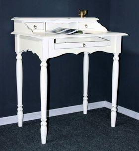 Sekretär weiß Schreibtisch Konsolentisch massiv Holz shabby 001