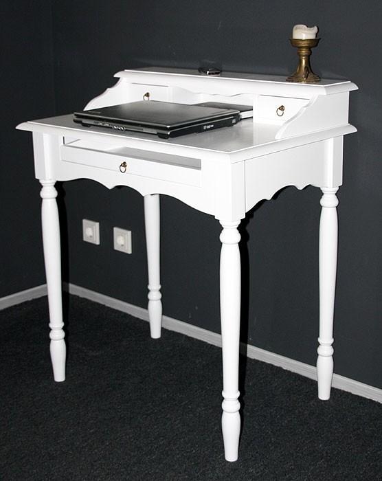 Sekretär weiß Schreibtisch Konsolentisch massiv Holz lackiert – Bild 5
