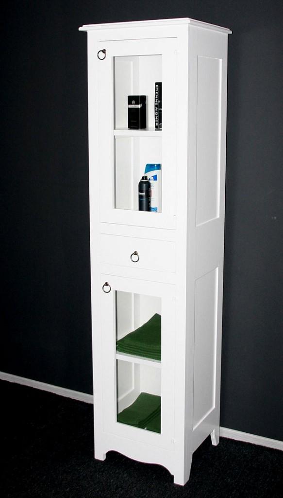 Badezimmerschrank Schubladen : Badhochschrank Badschrank Badezimmerschrank massiv weiß
