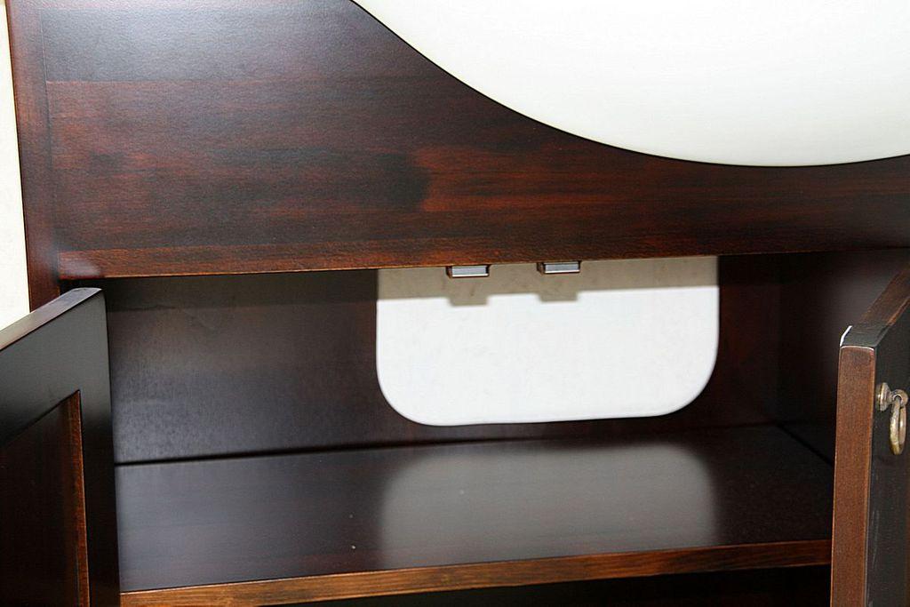 Badmöbel-Set 5teilig, 105x195x36cm, Pappel massiv nussbaumfarben ...
