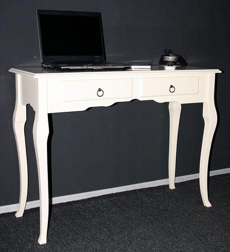 Konsolentisch Wandtisch Beistelltisch 105x79 - Holz massiv creme