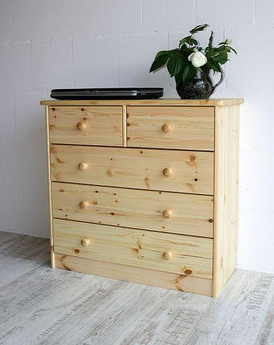 Schubladenkommode Wäschekommode Kiefer massiv Holz lackiert – Bild 3