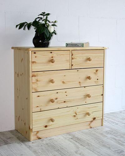 Schubladenkommode Wäschekommode Kiefer massiv Holz lackiert – Bild 1
