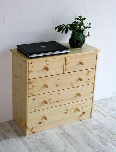 Schubladenkommode Wäschekommode Kiefer massiv Holz lackiert – Bild 4