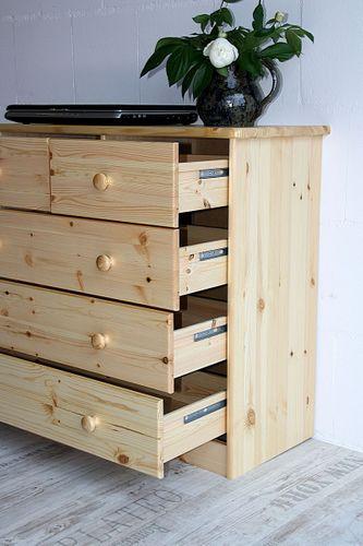 Schubladenkommode Wäschekommode Kiefer massiv Holz lackiert – Bild 6