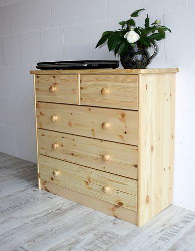 Schubladenkommode Wäschekommode Kiefer massiv Holz lackiert – Bild 8