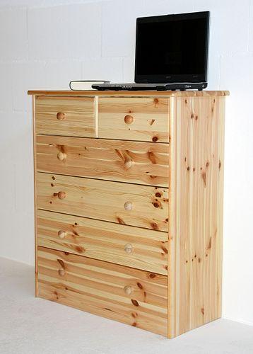 Schubladenkommode Wäschekommode Schubladenschrank Kiefer natur lackiert – Bild 4
