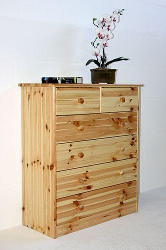 Schubladenkommode Wäschekommode Schubladenschrank Kiefer natur lackiert – Bild 1
