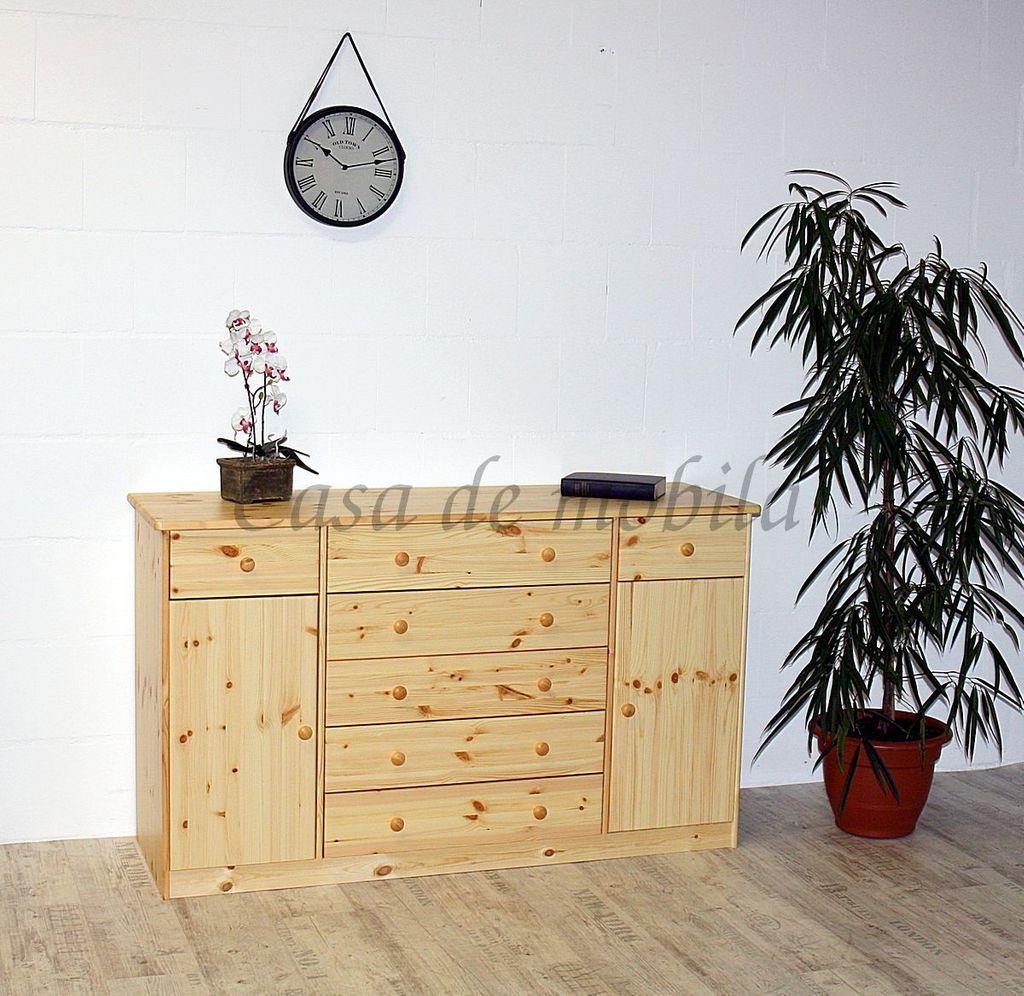 Sideboard MARIO 151x89x48cm Kiefer natur lackiert Anrichte Kommode – Bild 2